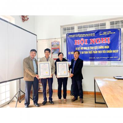 VSCB cấp chứng nhận cấp hệ thống quản lý an toàn thực phẩm theo tiêu chuẩn HACCP cho HTX Minh Toàn Lợi