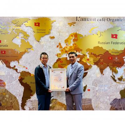 Tổ Chức Chứng Nhận VSCB trao Chứng nhận 4C cho Công Ty TNHH Vĩnh Hiệp