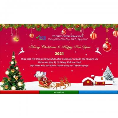 TỔ CHỨC CHỨNG NHẬN VSCB CHÚC MỪNG GIÁNG SINH 2020 VÀ NĂM MỚI 2021